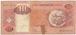 Angola - 10 Kwanzas - 10.1999 - Pick 145.a - Sign. 21 - Série DC - José Eduardo Dos Santos E Agostinho Neto - Angola