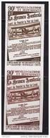 1971  Paire Verticale D'essais De Couleur Monochromes 40è Ann Liaison N-Calédonie - Australie  Yv PA 125 ** - 3 - Geschnitten, Drukprobe Und Abarten