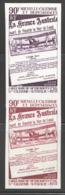 1971  Paire Verticale D'essais De Couleur Monochromes 40è Ann Liaison N-Calédonie - Australie  Yv PA 125 ** - 6 - Geschnitten, Drukprobe Und Abarten