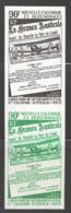 1971  Paire Verticale D'essais De Couleur Monochromes 40è Ann Liaison N-Calédonie - Australie  Yv PA 125 ** - 5 - Non Dentelés, épreuves & Variétés