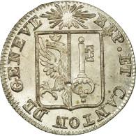 Monnaie, SWISS CANTONS, GENEVA, Sol, 1833, SPL, Billon, KM:120 - Suisse