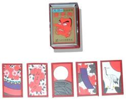 Gold Tengu Hanafuda ( Red )   ( Ooishi Tengudo, Kyoto ) - Group Games, Parlour Games