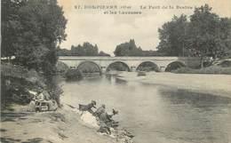 """/ CPA FRANCE 03 """"Dompierre, Le Pont De La Besbre Et Les Laveuses"""" - Otros Municipios"""
