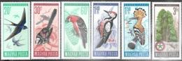 Hungary  1966     Sc#1746-51 Birds Set  MNH   2016 Scott Value $4.05 - Unused Stamps