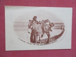 Navaho Indian On The Reservation Arizona --------- Published E & G Grist - Ref 3642 - Indiens De L'Amerique Du Nord