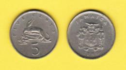 JAMAICA  5 CENTS 1980 (KM # 46) #5420 - Jamaica