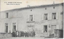 Carte Postale - St FORT Sur Le NE (16 Charente ) - Poste Et Ecole De Garçons - - Francia