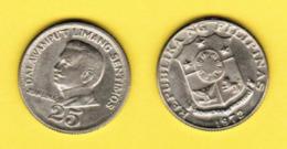 PHILIPPINES  25 SENTIMOS 1972 (KM # 199) #5433 - Philippines