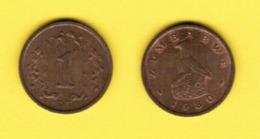 ZIMBABWE  1 CENT 1980 (KM # 1) #5434 - Zimbabwe