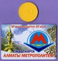 Kazakhstan CARDS METRO + Almaty Metro Single Ticket Token - Zonder Classificatie