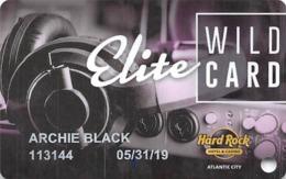 Hard Rock Casino - Atlantic City NJ - Slot Card With P829384-1 - Casino Cards