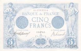5 FRANCS Bleue Du 22/?/16.P ,lire Description - 1871-1952 Anciens Francs Circulés Au XXème
