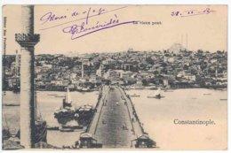 TURQUIE - CONSTANTINOPLE - Le Vieux Pont (timbre Taxe Au Dos) - Turkije