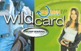Trump Marina Casino - Atlantic City NJ - BLANK Slot Card - Casino Cards