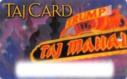 Trump Taj Mahal Casino Atlantic City NJ - BLANK Slot Card - Casino Cards