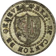 Monnaie, SWISS CANTONS, GENEVA, Sol, 1817, SUP, Billon, KM:116 - Suisse