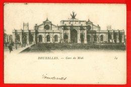 853 - BELGIQUE - BRUXELLES - Gare Du Midi - DOS NON DIVISE. - Spoorwegen, Stations