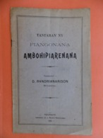 RANDRIANARISON TANTARAN'NY FIANGONANA AMBOHIDANERANA 1928 TANANARIVE - Livres, BD, Revues