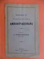 RANDRIANARISON TANTARAN'NY FIANGONANA AMBOHIDANERANA 1928 TANANARIVE - Boeken, Tijdschriften, Stripverhalen