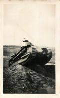 PHOTO ORIGINALE CHAR BLINDE FORMAT 11 X 7 CM - Guerre, Militaire