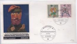 AK-div.29- 046   FDC  Ersttag - Mit Stempel  - Wohlfahrtsmarken 1970 - BRD