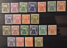 France - Taxe N°67 à 77 + 78 à 87  * - MH - Cote : 30 Euros - Postage Due