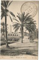 TUNISIE GABES CARTE CACHET MILITAIRE REGIMENT DU GENIE POSTE DE T.S.F. DIR KECIRA 1919 - Tunisia (1888-1955)