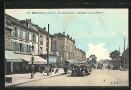 CPA Bezons, Rue Emile-Zola, Carrefour Du Grand-Cerf - Bezons
