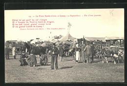CPA Lessay, La Foire Sainte-Croix, Fin D`une Journee - France