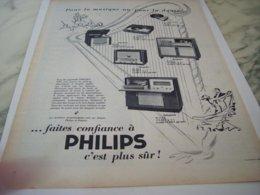 ANCIENNE PUBLICITE FAITES CONFIANCE A  PHILIPS 1953 - Music & Instruments