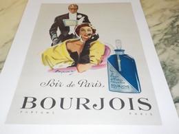 ANCIENNE AFFICHE PUBLICITE  SOIR DE PARIS BOURJOIS 1953 - Perfume & Beauty