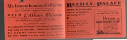 (cinéma) Patris:place Daumesnil  : Programme REUILLY-PALACE   (PPP20466) - Programmes
