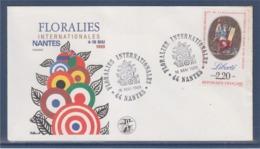 = Floralies Internationales Nantes 4-16 Mai 1989, Enveloppe Nantes 16.5.89 Timbre 2573 Liberté - Marcophilie (Lettres)