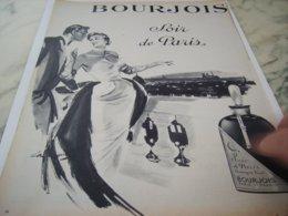 ANCIENNE  PUBLICITE  SOIR DE PARIS BOURJOIS 1953 - Perfume & Beauty