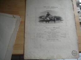 19 Eme  Partition Musique Ancienne  Gravure Vole Vole Hirondelle  De Marquerie Edi Leduc Timbre Fiscal Royal - Autres