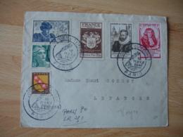 1947 Journee Du Timbre  4 Timbre Sur Lettre - Marcophilie (Lettres)