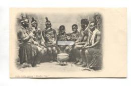 "Zulu Girls Eating ""mealie Pap"", Nudity - Early South Africa Postcard - Zuid-Afrika"