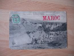 Troupes Debarquees Au Maroc  Tresor Et Postes Aux Armees Sur Carte - Marcofilia (sobres)