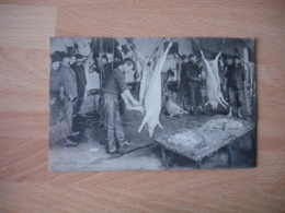 Gros Plan Abattoir Travail Alger Algerie Francaise - Profesiones