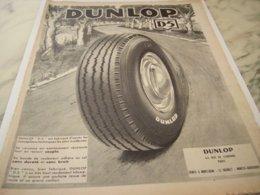 ANCIENNE PUBLICITE D5  PNEU DUNLOP 1953 - Other