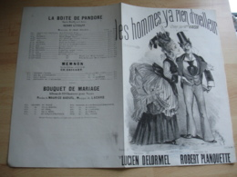 Alcazar Cafe Concert  Caf Conf  Les Homme Y A Rien De Meilleurs Gravure Partition Musique Ancienne Delormel - Muziek & Instrumenten
