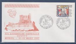 = 45è Assemblée Générale De L'UP PTT, Murol 21.3.97 Enveloppe Timbre 3024 De La Gaule à La France, Clovis - Marcophilie (Lettres)
