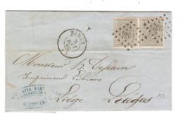 REF11/ TP 17(2) S/LAC écrit De St.Servais C.Namur 3/8/66 LOS 264 > Liège C.d'arrivée - Marcophilie