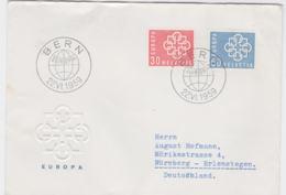 Switzerland FDC 1959 Europa CEPT   (G87-58) - 1959