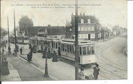 Calais-Panorama De La Place De La Nation-Nouvelles Lignes Du Tramway Electrique Allant Au Cimetière Et à Saint-Pierre -H - Calais