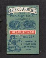 Pochette De Papier D'Arménie Pour Purifier L'air / A. Ponsot Montrouge - Vintage (until 1960)