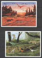S080 !!! IMPERFORATE GAMBIA FAUNA REPTILES DINOSAURS OF THE WORLD 2KB(18ST) MNH - Stamps