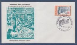 = Postiers Philatélistes, Groupe Départemental De La Gironde, Timbrage Avec Machine Daguin, Bordeaux 22-23.4.79 N°2037 - Marcophilie (Lettres)