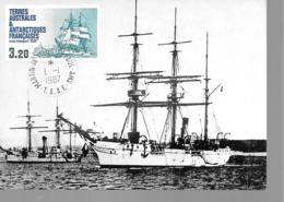 TAAF L'AVISO EURE (BATEAU : VOILIER....)  (VOIR DESCRIPTIF AU DOS) - TAAF : Franz. Süd- Und Antarktisgebiete