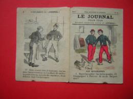 ULTRA MINI JOURNAL  4 PAGES FORMAT 7.5 X 11 CM  LE JOURNAL POUR TOUS  N° 25 SUPPLEMENT HEBDOMADAIRE ILLUSTRE DU JOURNAL - Kranten